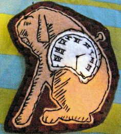 TOCK!! (from The Phantom Tollbooth) Craft Tutorials, Craft Projects, The Phantom Tollbooth, Reading Books, Craft Organization, Craft Patterns, Crochet Baby, Crochet Projects, Cool Designs