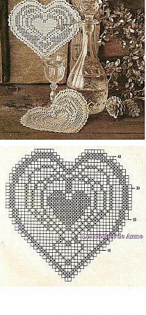Crochet heart filet ideas for 2019 Crochet Dollies, Crochet Art, Crochet Home, Thread Crochet, Crochet Motif, Crochet Designs, Free Crochet, Baby Afghan Crochet Patterns, Crochet Headband Pattern