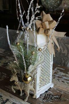 encontrar uma lanterna natal na depuração e decorá-lo para o inverno, decorações do natal, diy, lareiras cornijas, vida ao ar livre, decoração do feriado sazonal