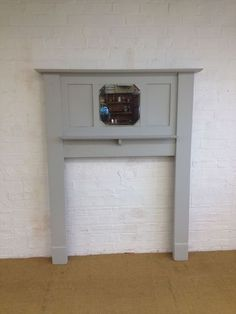 A LOVELY PAINTED VINTAGE FIRE SURROUND / FIREPLACE - SHABBY COUNTRY HOME CHIC | eBay
