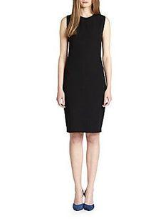 Vince Pencil Dress - Black - Size L