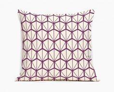 coussin-design-fragments-violet-motif-geometrique #mademoiselledimanche
