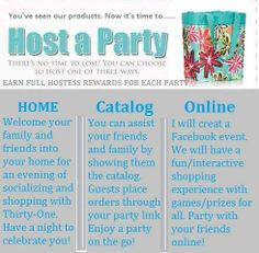 Host a Party; Home, Catalog or Online!   Now ISO September hostesses!