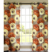 Quirion Poppies Curtain Panel (Set of 2)