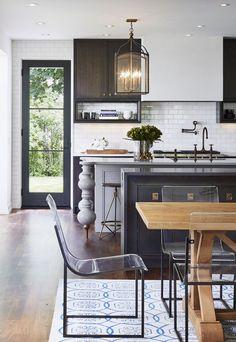 Refreshing black and white kitchen Mississippi River Boulevard, MN | Martha O'Hara Interiors