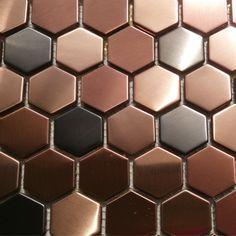 Pas cher Hexagon carreaux de mosaïques cuivre rose or couleur noir en acier inoxydable dosseret de cuisine carreaux de murs de bain de revêtement de sol de douche carreaux 11SF, Acheter  Mosaïque de qualité directement des fournisseurs de Chine:     Merci de visiter notre site.  Nous sommes un professionnel mosaïque carreaux de fabricant.  Nous avons notre expéri
