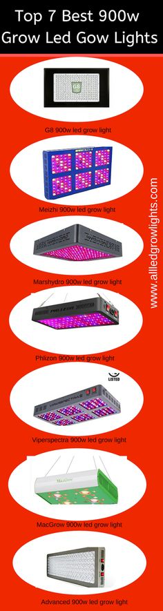 The 900 watt led grow light feature the highest grade of diodes to produce the best vegetation and bloom possible for all your indoor plants.
