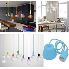 Princeway Farbe Silikon Decke Hängende Beleuchtung Befestigung- Europäische Moderne IKEA Stil- DIY Einfache Installation für Beleuchtung für Zuhause in Küche, Esszimmer, Wohnzimmer, Kinderzimmer und Restaurant (Blau) Princeway Lighting http://www.amazon.de/dp/B00S867UPQ/ref=cm_sw_r_pi_dp_8DWcwb12K27J7