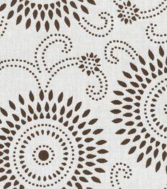 Home Decor Fabric-Annie Selke Esha Chocolate/Ivory: home decor print fabric: home decor fabric: fabric: Shop | Joann.com