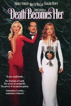 Death Becomes Her// now watching. I loved this movie when I was a kid.