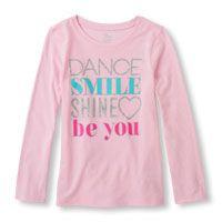 Long Sleeve 'Dance Smile Shine Be You' Graphic Tee