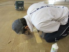 The attention to detail during the #maintenance work performed by Dalla Riva Sportfloors