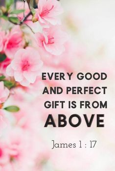 Every good & perfect gift is from above. Encouraging Bible Verses, Bible Encouragement, Biblical Quotes, Favorite Bible Verses, Prayer Quotes, Bible Verses Quotes, Bible Scriptures, Faith Quotes, Spiritual Quotes