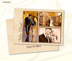 Dankeskarte zur Hochzeit  Mehr auf www.wunschkarten24.de