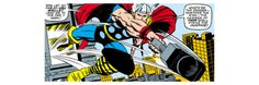 Marvel Comics Retro: Mighty Thor Comic Panel, Flying and Jumping Print at Art.com