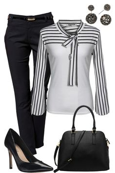 I like this simple yet sophisticated work outfit right down to the pointy-toe heels!