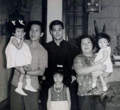 Bruce with family at his home 218 Nathan road HongKong