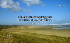 Psalm 84:11 (WEB) For Yahweh God is a sun and a shield. Yahweh will give grace and glory. He withholds no good thing from those who walk blamelessly.  Promise #25: I will not withhold anything good from those with an upright heart.