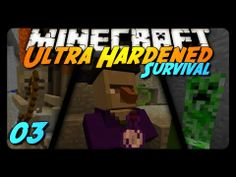 Minecraft: Ultra Hardened Survival LP - 003 - WITCH ENCOUNTER!!