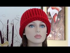 CHY Ribbed Crochet Hat - How to Crochet Ribbed Crochet Hat - YouTube