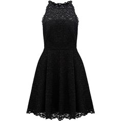 Forever New Poppy High Neck Lace Skater Dress ($74) ❤ liked on Polyvore