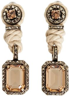 Rope and Crystal Earrings - Lanvin