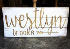 Rustic Name Sign for baby nursery