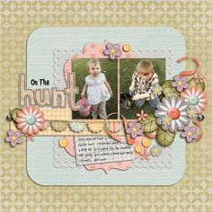 Layout by Natalie using Everyday Spring Collection Digital Scrapbooking Kit by Simple Girl Scraps