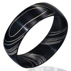 Modern Black Brushed Finish Stainless Steel Men's Ring 8mm men's jewellery #mensfashion #mensjewellery