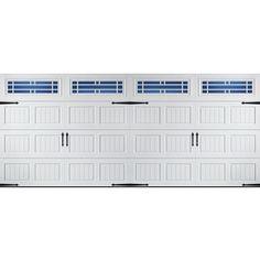 Garage Door ReliaBilt 16 Ft X 7 Ft 850 Series Insulated Double Garage Door