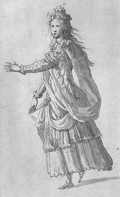 Costume for a Naiad    Inigo Jones 1609