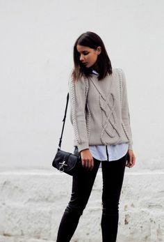 Тенденция: свитер в «косичку» 8