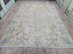 Vintage Decor, Vintage Rugs, Natural Area Rugs, Floral Area Rugs, Small Area Rugs, Bath Decor, Bath Rugs, 40 Years, Sadness