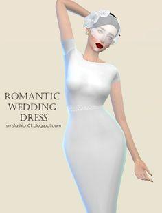 Sims Fashion 01: Romantic Wedding Dress 2 • Sims 4 Downloads