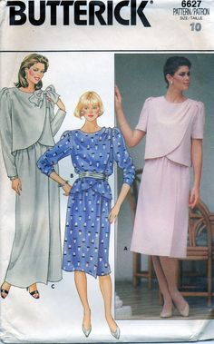 1980s Sewing pattern 6627  Butterick  Misses Top by Oldeshop2012, $4.00