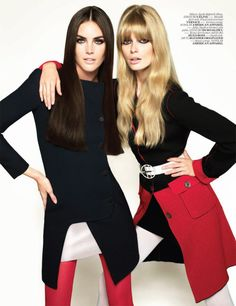 Hilary Rhoda & Julia Stegner for Vogue Turkey October 2010 by Cuneyt Akeroglu | Fashion Gone Rogue: The Latest in Editorials and Campaigns