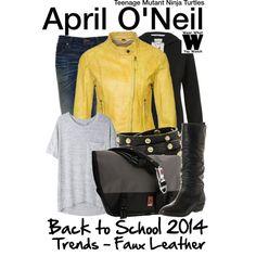 Inspired by Megan Fox as April O'Neil in 2014's Teenage Mutant Ninja Turtles.