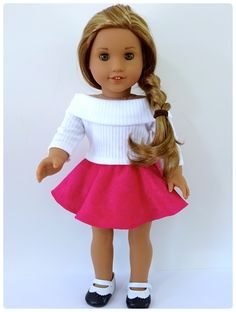 Val Spiers Sews Doll Clothes: Free Skater Skirt Doll Clothes Pattern for American Girl Doll and Australian Girl Doll