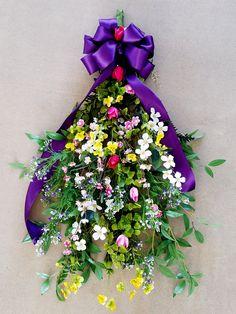 Spring WreathSummer WreathDoor WreathSilk FlowersFront DoorHome DecorDoor DecorWall Wreath