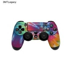Controller PS4 Skin Dualshock 4 Sticker Decal Wrap Pink Blue Orange Playstation