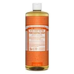 Bronner's Tea Tree Pure-Castile Liquid Soap is woodsy and medicinal. It contains pure tea tree oil, good for acne-prone skin and dandruff. Bronners Soap, Pure Castile Soap, Hygiene, Liquid Soap, Wash Your Face, Acne Prone Skin, Tea Tree Oil, Pure Essential Oils