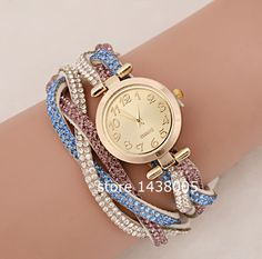1bee5df427d Pink   Blue Bling Watch  10.000 CLP Relógios Fashion