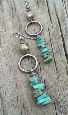 Turquoise Earrings, Turquoise Jewelry, Bohemian jewelry, southwest inspired jewelry