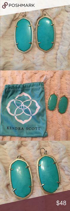 Kendra Scott Danielle earrings Barely worn Kendra Scott Danielle earrings, color:Turquoise Kendra Scott Jewelry Earrings
