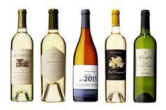 From left: 2013 Spottswoode Napa and Sonoma County Sauvignon Blanc;  2012 Arkenstone Vineyards Howell...