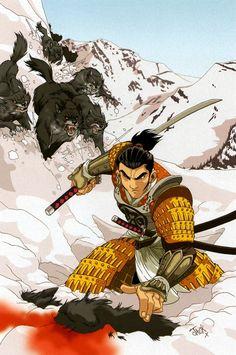"""Illustration - Samurai Nº 1: Heaven and Earth"", Jack Lawrence"