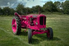 purple pink tractor