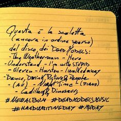 26th Creativity Challenge: Handwriting Day 2015 - Dead Models - New Album