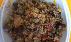 Quinoa, lilek a sušené rajčata
