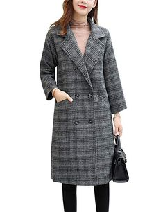 Fall coats for women this year come in an interesting collection of fabrics and a wide variety of colors and styles. With the return of corduroy, plaid. Mens Fashion Wear, Plaid Fashion, Boho Fashion, Autumn Fashion, Fashion Women, Fashion Trends, Grey Coats For Women, Winter Coats Women, Cardigans For Women